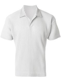 рубашка-поло с ребристой фактурой Homme Plissé Issey Miyake