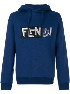 толстовка  с логотипом  Fendi