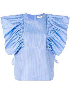 блузка с крупными рюшами MSGM