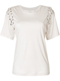 футболка со шнуровкой на рукавах  Isabel Marant