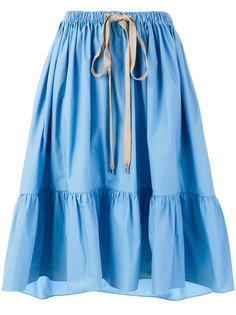 поплиновая расклешенная юбка  Fendi