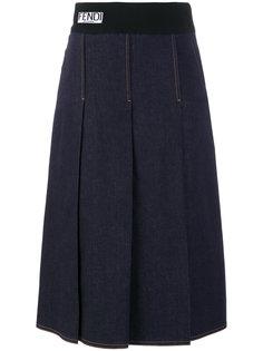 джинсовая юбка  Fendi