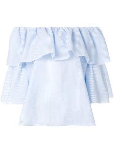 блузка в полоску с оборками  Blugirl