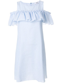 платье в полоску с оборками  Blugirl
