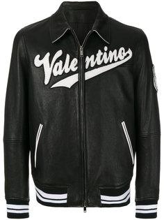 кожаная куртка-бомбер Valentino Valentino