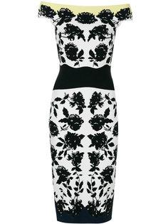 платье по фигуре с цветочным принтом Alexander McQueen