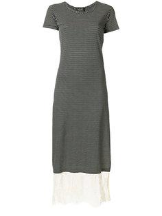 платье в полоску с кружевной панелью Twin-Set