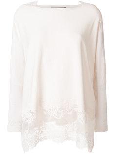 блузка с кружевной вставкой по краю  Twin-Set