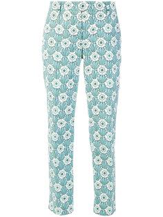 брюки с принтом  Prada