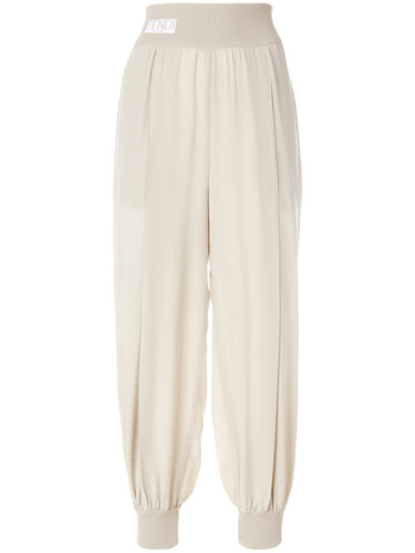 спортивные брюки-шаровары с панельным дизайном Fendi