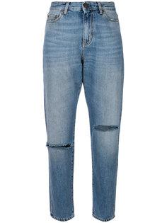 джинсы мешковатого кроя с рваными коленями Saint Laurent