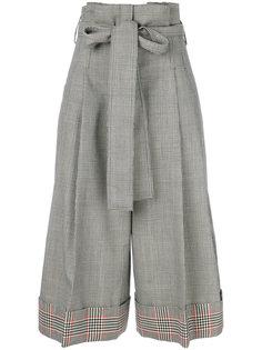 укороченные брюки в ломаную клетку Alexander McQueen