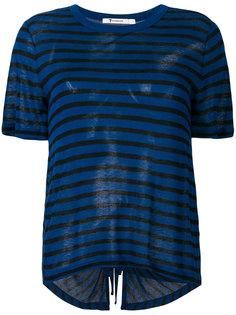 футболка в полоску с вырезом на спине Alexander Wang