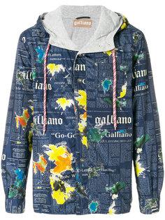 куртка с текстовым принтом John Galliano