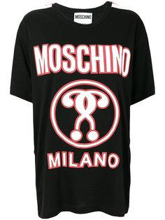 футболка с вопросительными знаками  Moschino