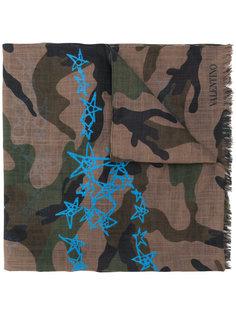 шарф Valentino Garavani Camouflage & Stars  Valentino