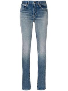 выцветшие джинсы скинни  Saint Laurent
