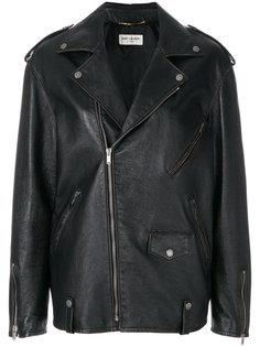 оверсайз-куртка на молнии  Saint Laurent