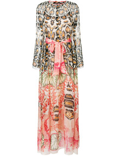 printed tie waist maxi dress Temperley London