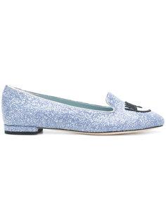 Logomania loafers Chiara Ferragni