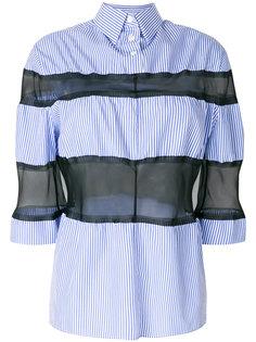 рубашка с прозрачными полосками Maison Margiela