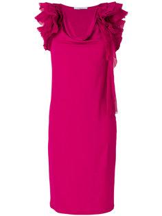 платье шифт с рюшами Givenchy
