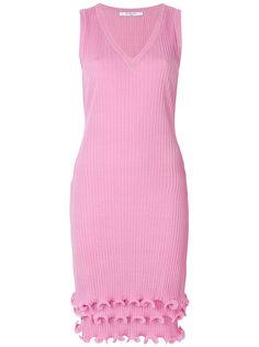 приталенное платье с рюшами Givenchy
