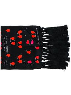 шарф с принтом Petal Alexander McQueen