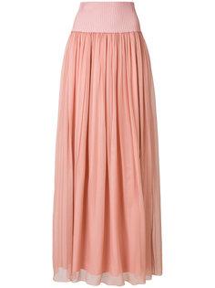 длинная плиссированная юбка  Alberta Ferretti