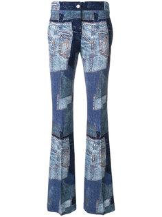 джинсовые брюки клеш в стиле пэчворк  Moschino
