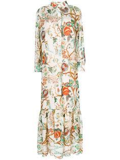 платье-рубашка с цветочным принтом Alberta Ferretti