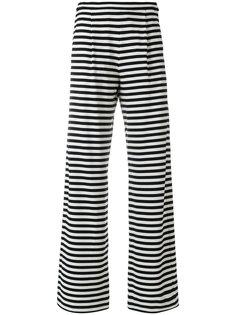 расклешенные полосатые брюки Max Mara