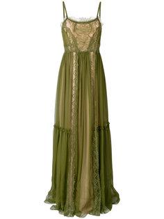 нарядное платье с кружевными вставками Alberta Ferretti