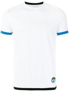 футболка с контрастной окантовкой Prada