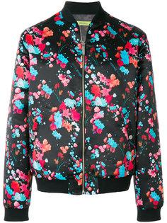 куртка-бомбер с цветочным принтом Versace Jeans
