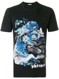 футболка с принтом льва Versace Jeans