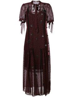 платье с вышивкой звезд Coach