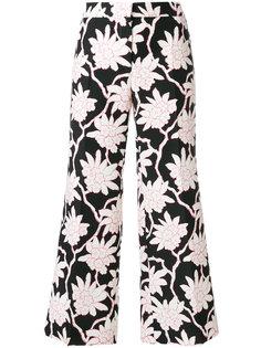 укороченные брюки с цветочным принтом  Valentino