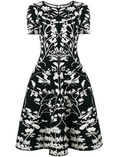 жаккардовое платье с растительным узором  Alexander McQueen