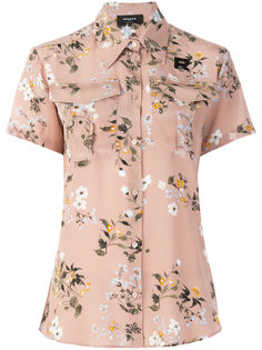 блуза с короткими рукавами с цветочным принтом Rochas