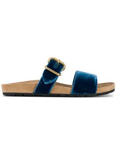 сандалии на плоской подошве  Prada