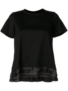 футболка с рюшами Sacai