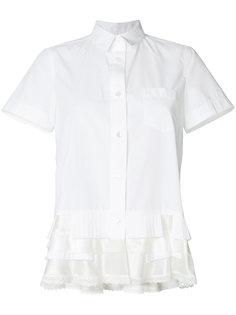 расклешенная рубашка с короткими рукавами Sacai