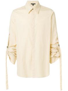 рубашка с присборенными рукавами Ann Demeulemeester Blanche