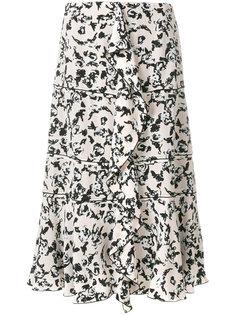 Ruffle floral print skirt Proenza Schouler