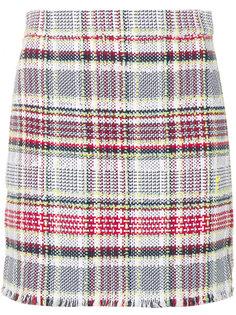 приталенная твидовая юбка Thom Browne