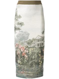 юбка-карандаш с принтом  Antonio Marras