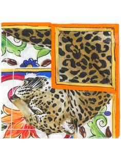 шарф с тигром Dolce & Gabbana