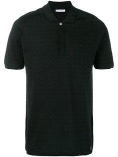 футболка-поло с геометрическим узором Versace Collection