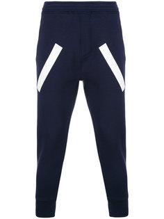 спортивные брюки с контрастными полосками Neil Barrett